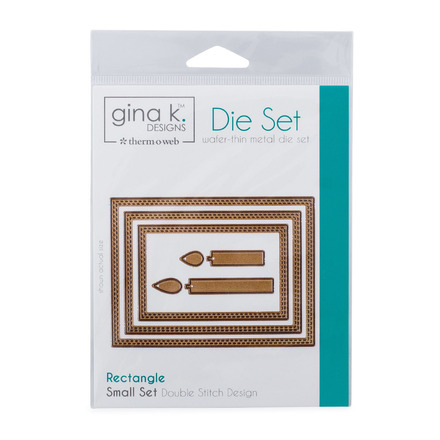 Gina K. Designs (3) Nested Rectangle Dies • Double Stitch Design • Small Set picture