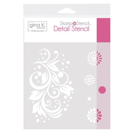 Gina K. Designs StampnStencil Detail Stencil - Crazy Daisy picture