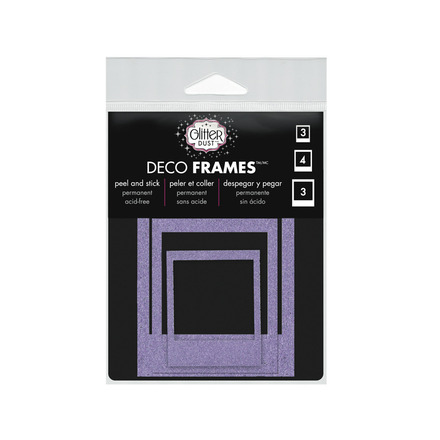Glitter Dust™ Photo Frame Assortment-Purple picture