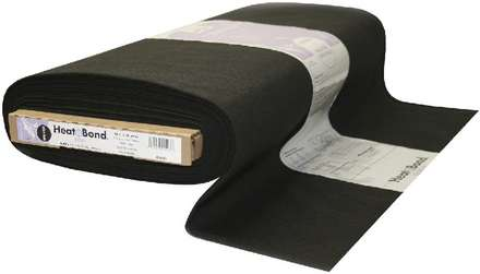 HeatnBond Woven Fusible Soft (Black 45 in. d/f x By The Yard) picture