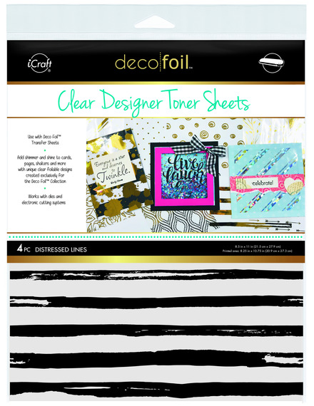Deco Foil™ Clear Toner Sheets • Distressed Lines picture