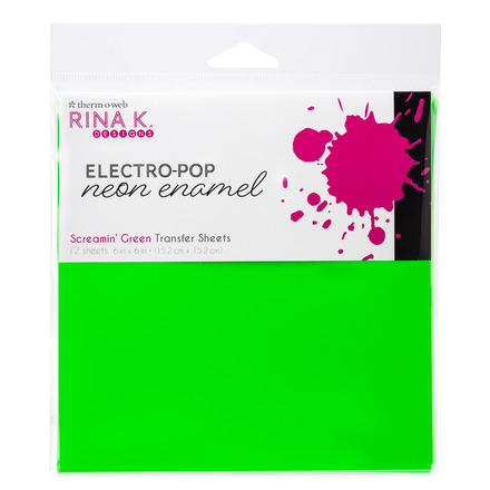 Rina K. Designs Neon Enamel Transfer Sheets, Screamin' Green picture