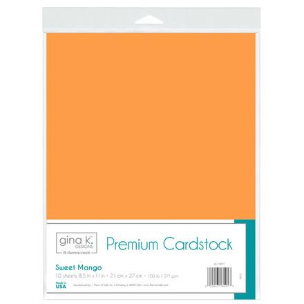 Gina K. Designs Premium Cardstock • Sweet Mango picture