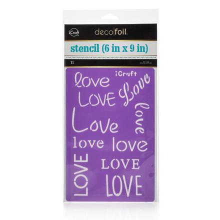 Deco Foil™ Love Stencil picture