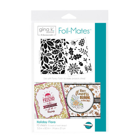 Gina K. Designs Foil-Mates™ Backgrounds • Holiday Flora picture