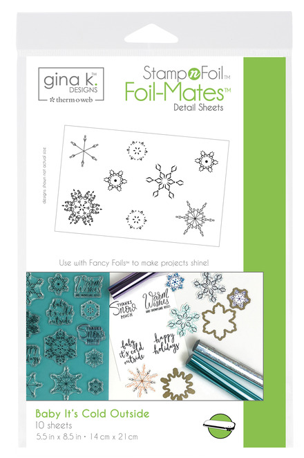 Gina K. Designs StampnFoil Foil-Mates Detail Sheet, Baby it's Cold Outside. picture