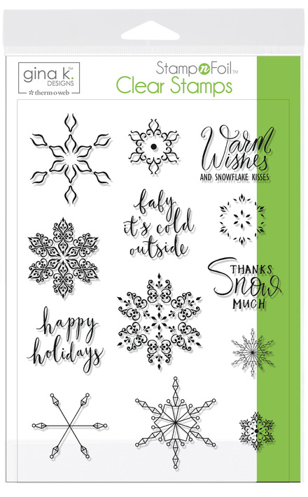 Gina K. Designs StampnFoil Stamp Set, Baby it's Cold Outside picture