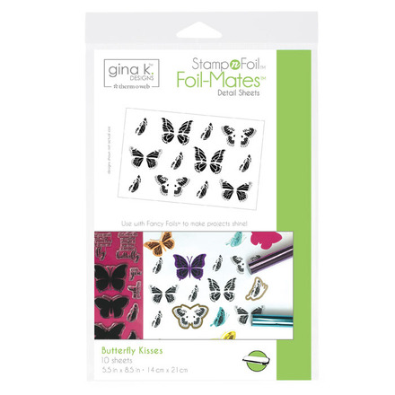 Gina K. Designs StampnFoil™ Foil-Mates Detail Sheet • Butterfly Kisses picture