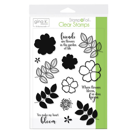 Gina K. Designs StampnFoil Stamp Set • Where Flowers Bloom picture