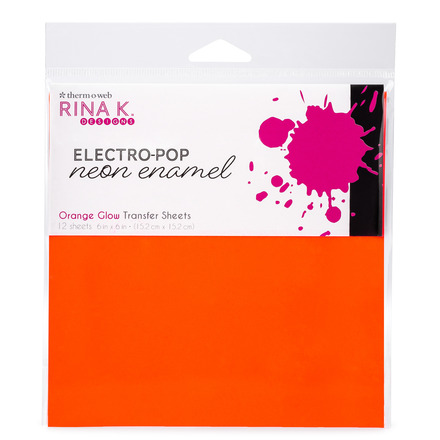 Rina K. Designs Neon Enamel Transfer Sheets, Orange Glow picture
