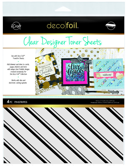 Deco Foil™ Clear Toner Sheets • Pinstripes