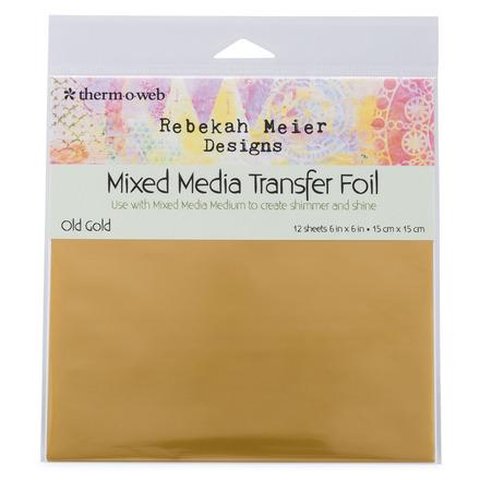 "Rebekah Meier Designs Transfer Foil 6"" x 6"" (12 sheets per pack) • Old Gold (Satin) picture"