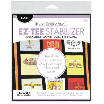 "EZ-TEE Woven Fusible Stabilizer - 14"" x 25 ft - Black picture"