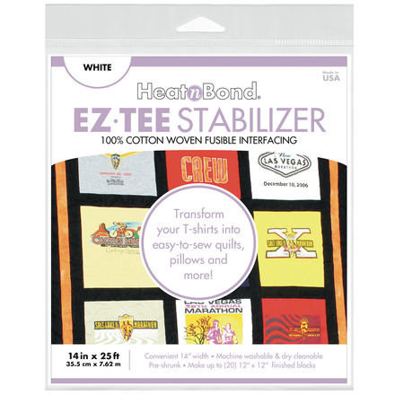 "EZ-TEE Woven Fusible Stabilizer - 14"" x 25 ft - White picture"