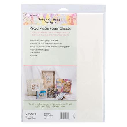 "Rebekah Meier Designs Mixed Media Foam Sheets 9"" x 12"" (2 sheets per pack) picture"