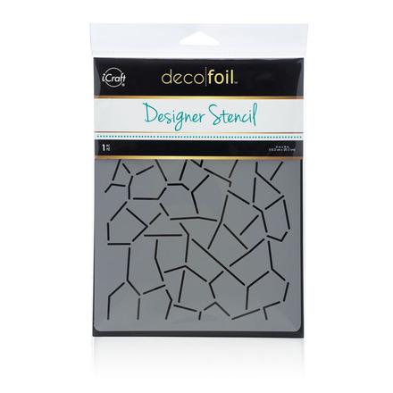 Deco Foil™ Crackle Stencil picture