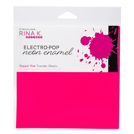 Rina K. Designs Neon Enamel Transfer Sheets, Poppin' Pink picture