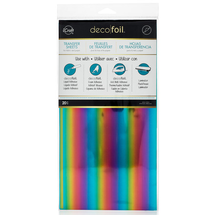Deco Foil Transfer Sheets Value Pack - Rainbow picture