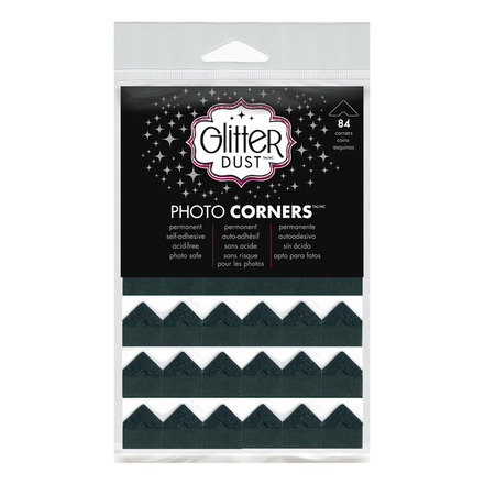 Glitter Dust Photo Corners • Black Nickel picture