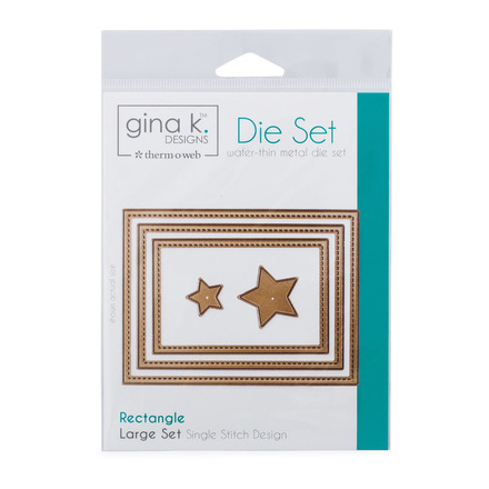 Gina K. Designs (3) Nested Rectangle Dies • Single Stitch Design • Large Set picture