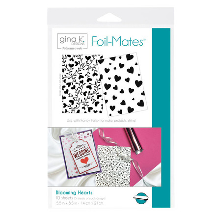 Gina K. Designs Foil-Mates™ Backgrounds • Blooming Hearts picture