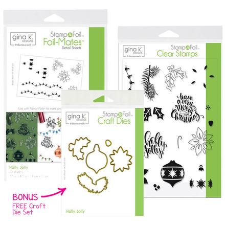 BUNDLE & SAVE Gina K. Designs StampnFoil Holly Jolly Bundle picture