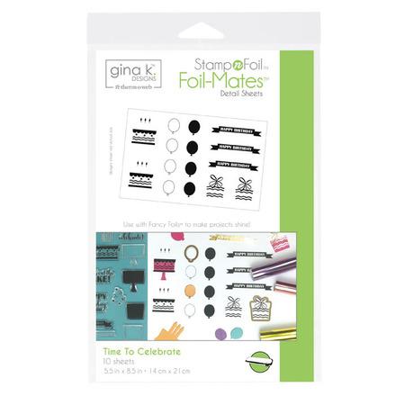 Gina K. Designs StampnFoil™ Foil-Mates Detail Sheet • Time To Celebrate picture