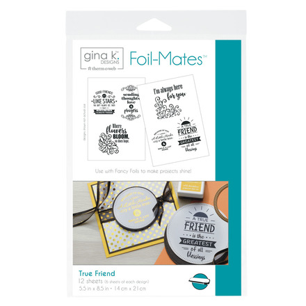 Gina K. Designs Foil-Mates™ Sentiments • True Friend picture