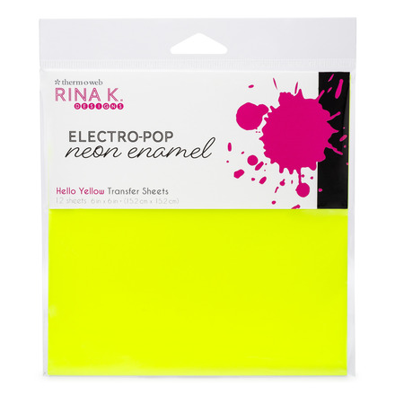Rina K. Designs Neon Enamel Transfer Sheets, Hello Yellow picture