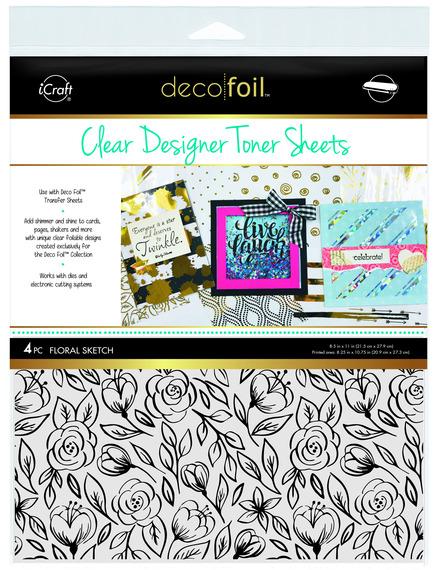 Deco Foil™ Clear Toner Sheets • Floral Sketch picture
