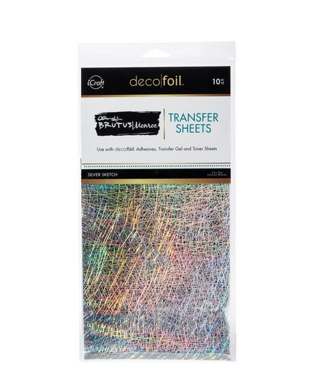 Brutus Monroe Foil Transfer Sheets - Silver Sketch picture