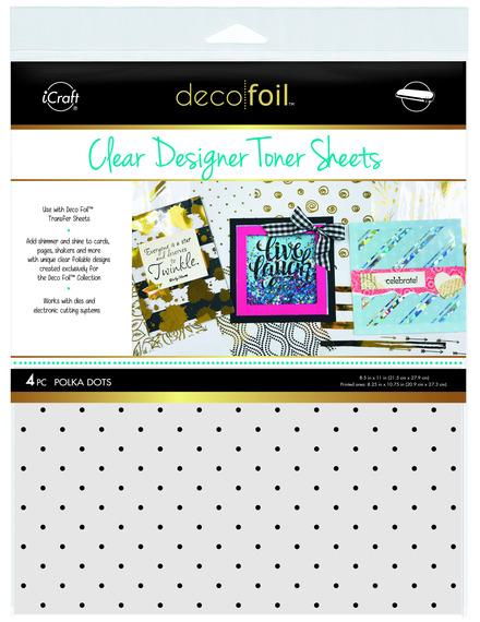 Deco Foil™ Clear Toner Sheets • Polka Dots picture