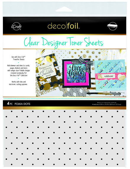 Deco Foil™ Clear Toner Sheets • Polka Dots picture