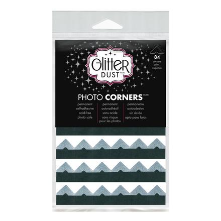 Glitter Dust Photo Corners • Silver picture
