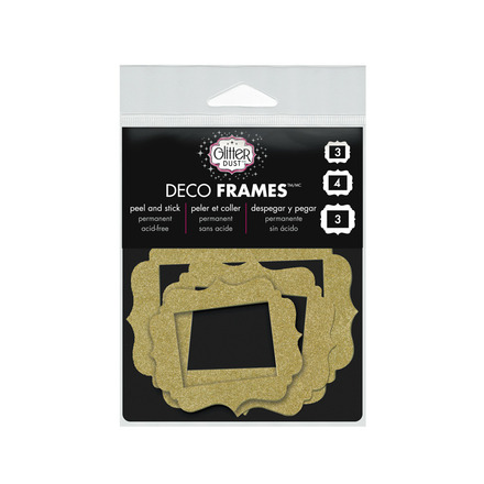 Glitter Dust™ Vintage Frame Assortment-Gold