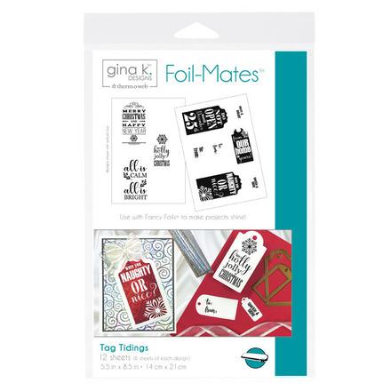 Gina K. Designs Foil-Mates™ Sentiments • Tag Tidings picture