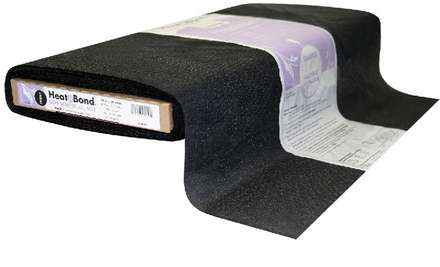 HeatnBond Tricot Fusible Soft Stretch All Bias (Black 20 in. x By The Yard)
