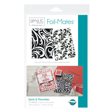 Gina K. Designs Foil-Mates™ Backgrounds • Swirls & Flourishes picture