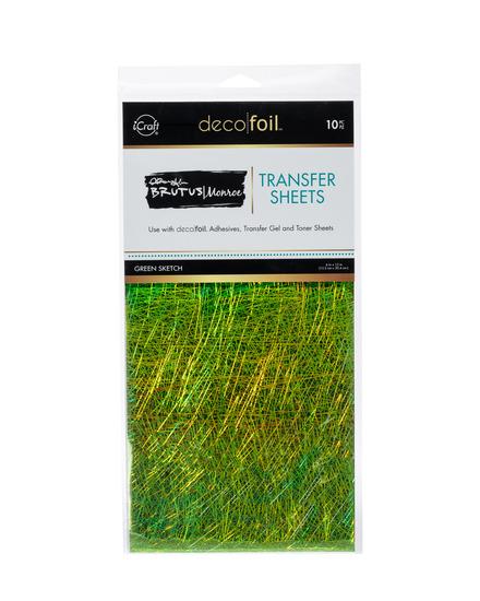 Brutus Monroe Foil Transfer Sheets - Green Sketch picture