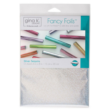 "Gina K. Designs Fancy Foils™ 6"" x 8"" • Silver Sequins picture"