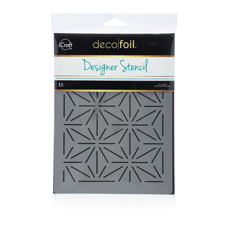 Deco Foil Starburst Stencil picture