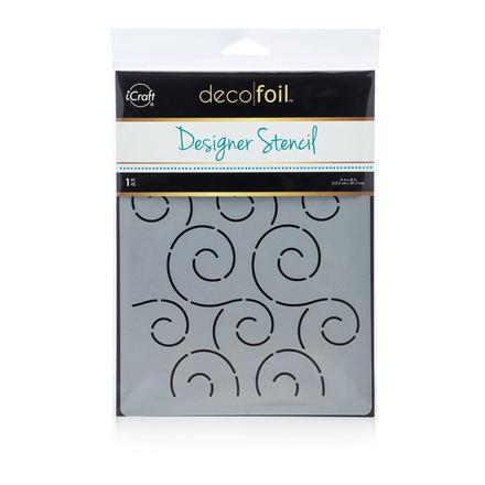 Deco Foil Swirls Stencil picture