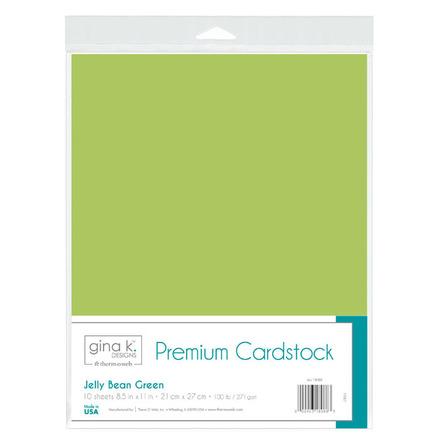 Gina K. Designs Premium Cardstock • Jelly Bean Green picture