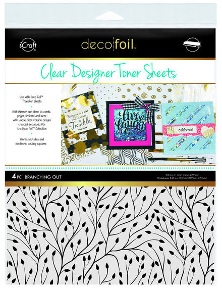 Deco Foil™ Clear Toner Sheets • Branching Out picture