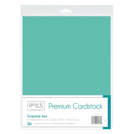 Gina K. Designs Premium Cardstock • Turquoise Sea