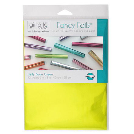 "Gina K. Designs Fancy Foils™ 6"" x 8"" • Jelly Bean Green picture"