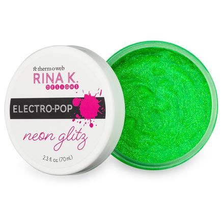 Rina K. Designs Neon Glitz Glitter Gel - Screamin' Green picture