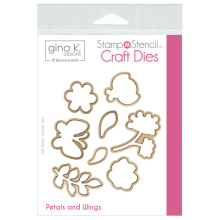 Gina K. Designs StampnStencil Die Set - Petals & Wings picture