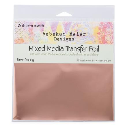 """Rebekah Meier Designs Transfer Foil 6"""" x 6"""" (12 sheets per pack) • New Penny picture"""