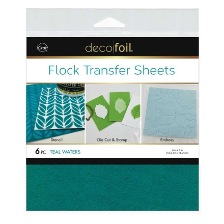 Deco Foil Flock Transfer Sheets – Teal Waters picture